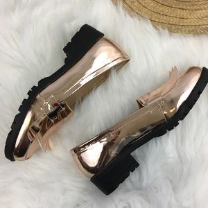 ** NEW** N.Y.L.A Rose Gold Penny Loafers